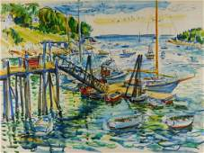 Charles Demetropoulos Impressionist Maine Painting