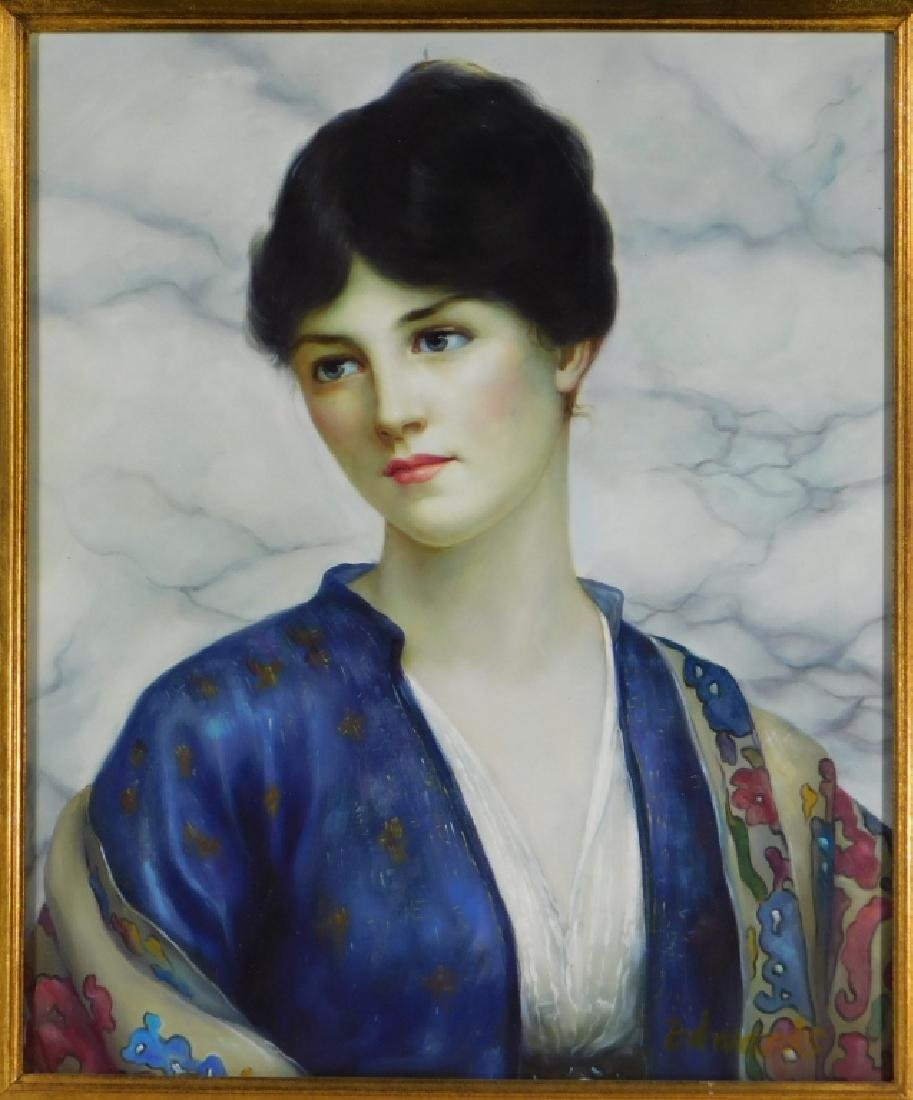 Contemporary Portrait Painting of Beautiful Woman