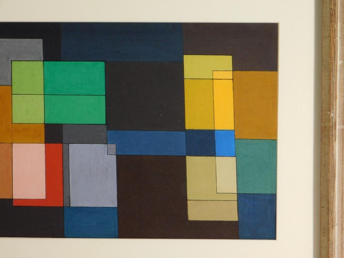 MCM American Geometric Abstract WC Painting - 4