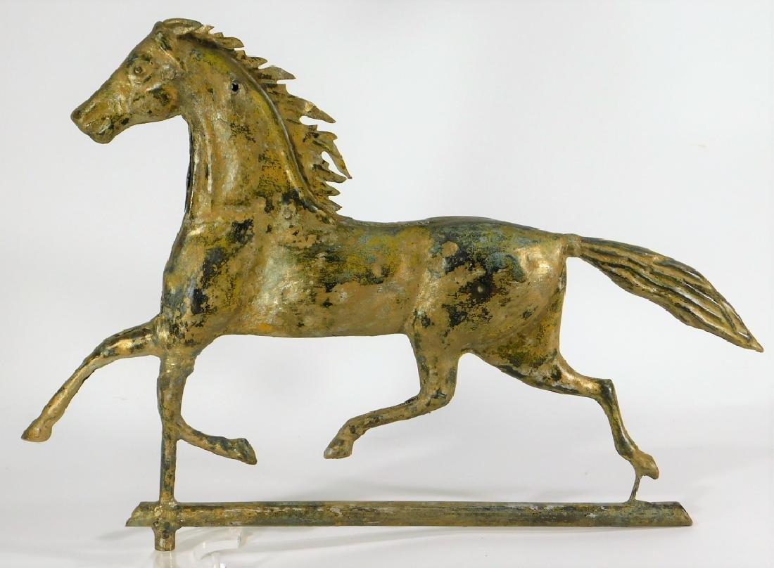 American Ethan Allen Gilt Copper Horse Weathervane