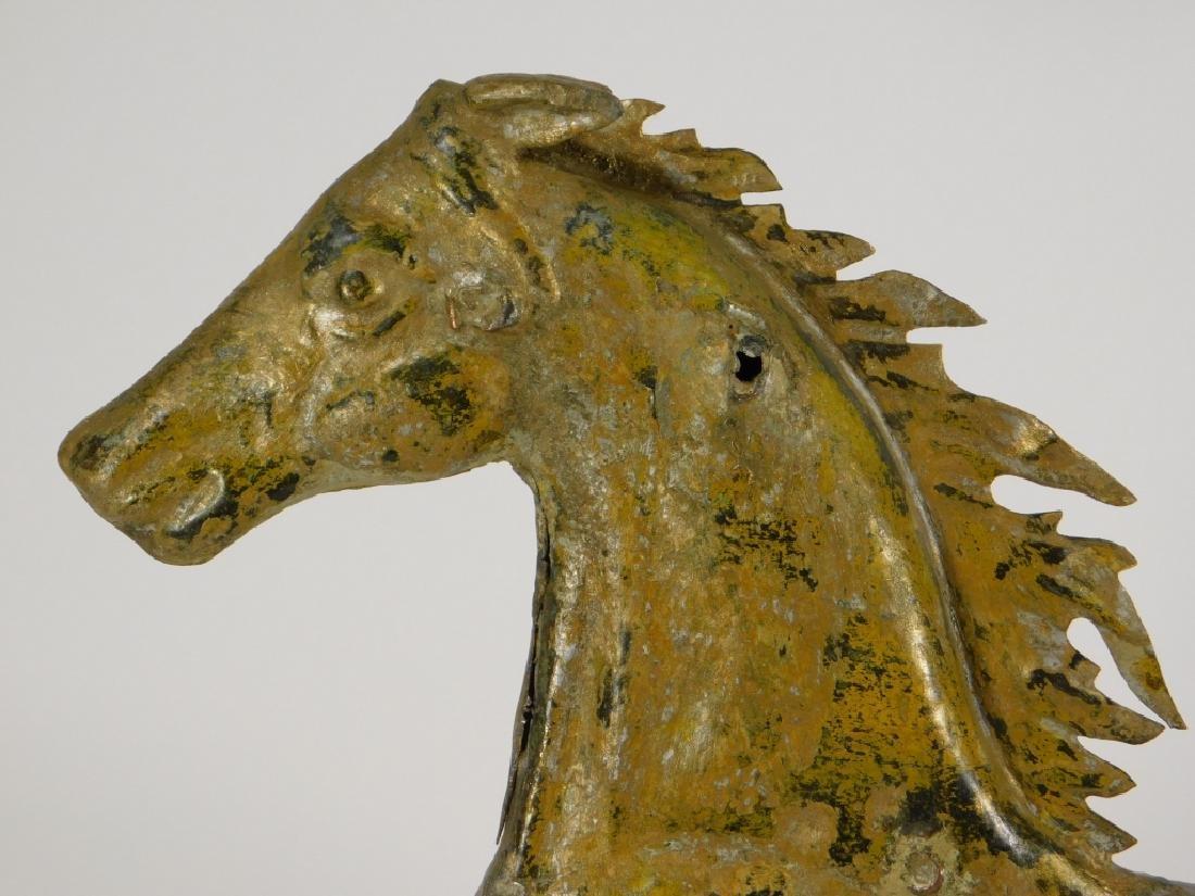 American Ethan Allen Gilt Copper Horse Weathervane - 2