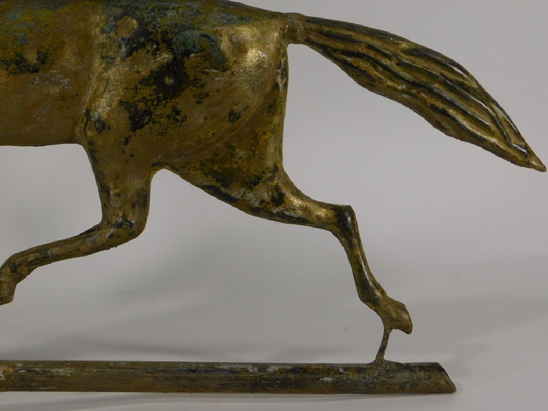 American Ethan Allen Gilt Copper Horse Weathervane - 4