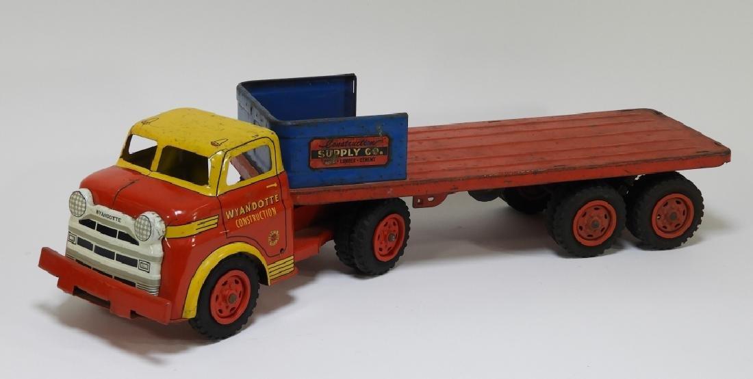 2 Wyandotte Tin Lithograph Construction Dump Truck - 4