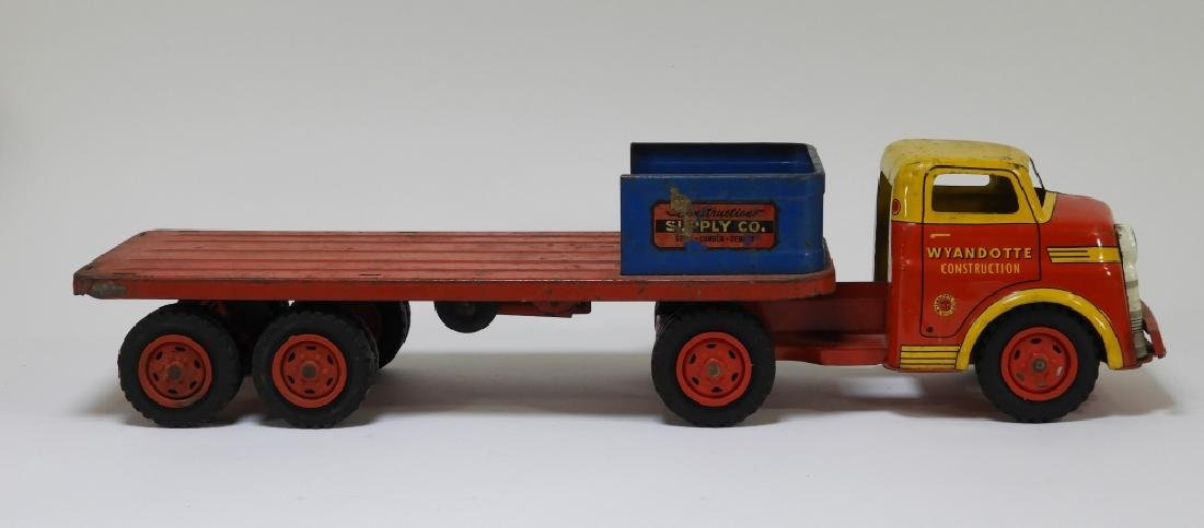 2 Wyandotte Tin Lithograph Construction Dump Truck - 5
