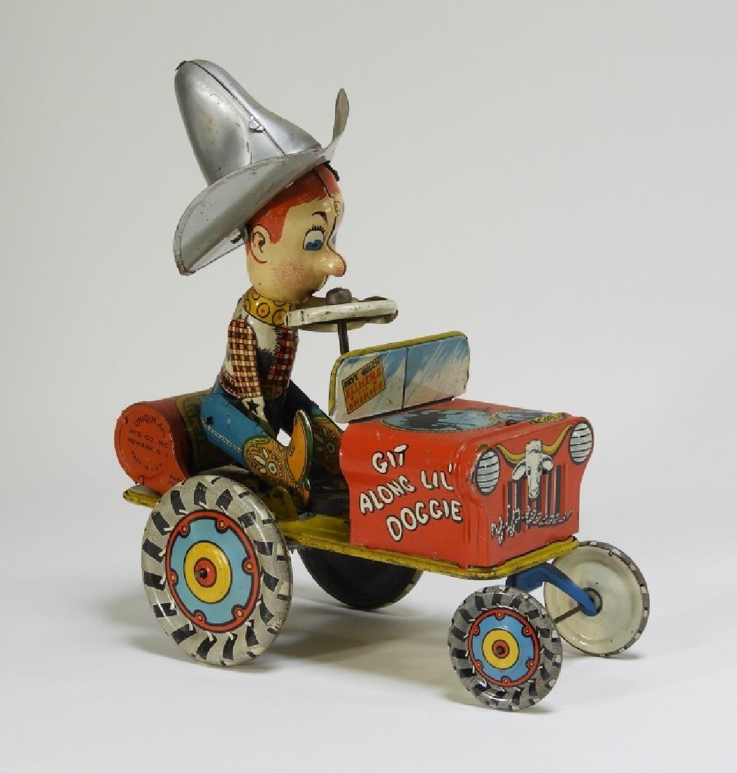 Unique Art Tin Litho Rodeo Joe Western Wind Up Toy - 6