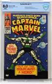 Marvel Comics Captain Marvel 1 CBCS 80