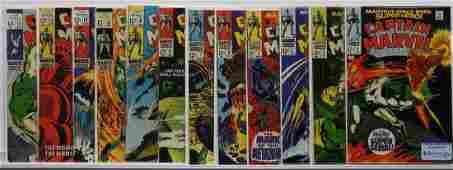 Marvel Captain Marvel 213 Complete Run CBCS 80