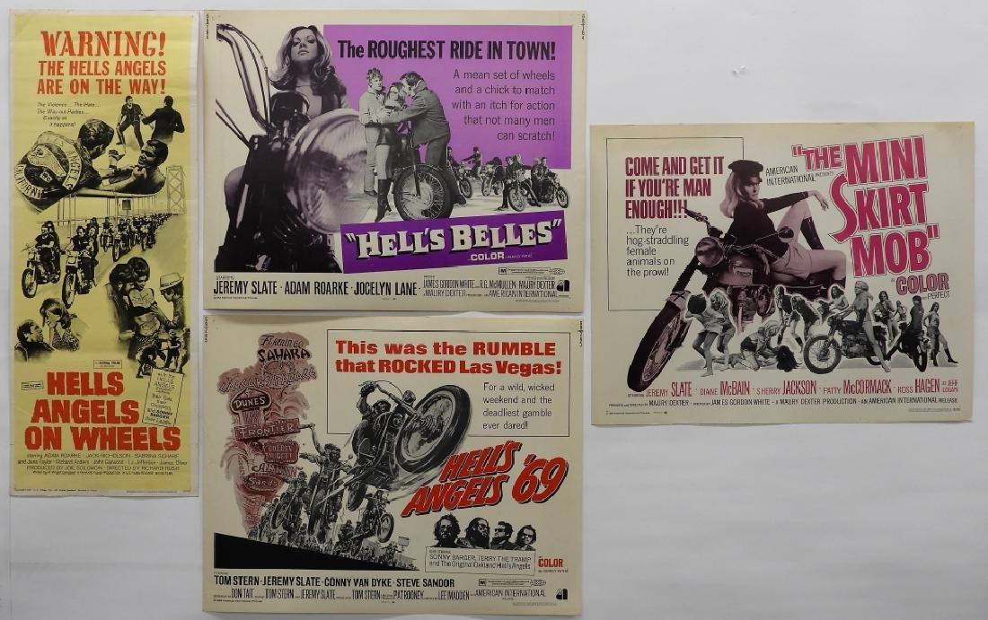 4 Hell's Angels Motorcycle Club Movie Posters