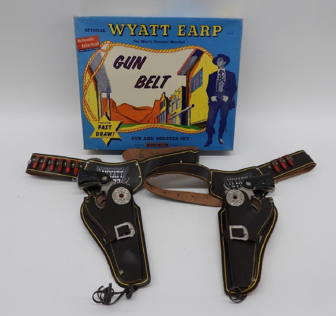 Esquire Novelty Wyatt Earp Western Cap Gun Belt