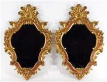 PR Italian Florentine Carved Gilt Wood Hall Mirror