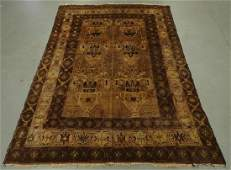 Antique Turkish Earth Tone Wool Carpet Rug