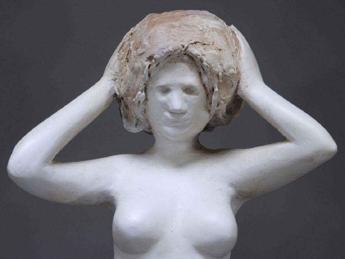20C. American Design Plaster Sculpture of Nude - 2