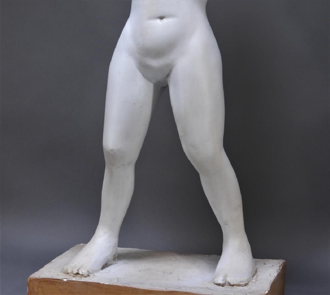 20C. American Design Plaster Sculpture of Nude - 3