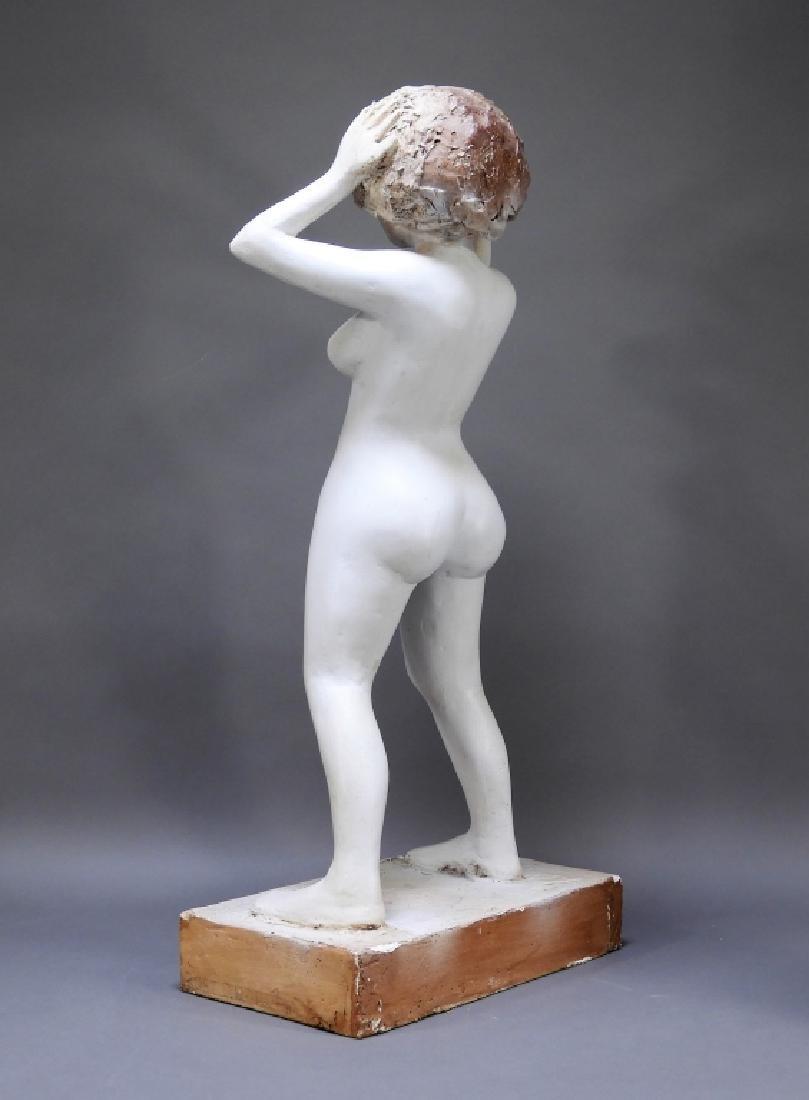 20C. American Design Plaster Sculpture of Nude - 4