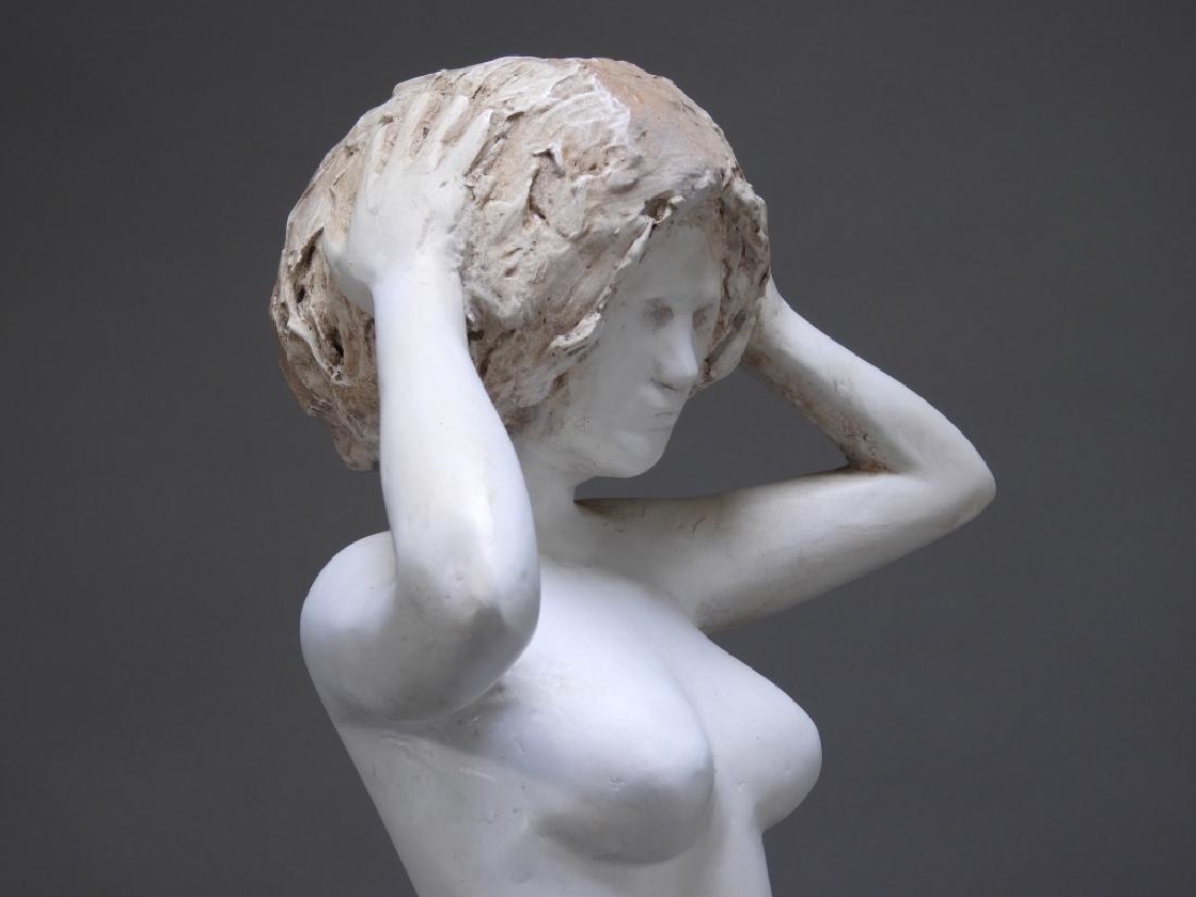 20C. American Design Plaster Sculpture of Nude - 5