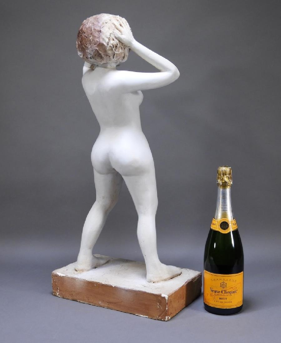 20C. American Design Plaster Sculpture of Nude - 6
