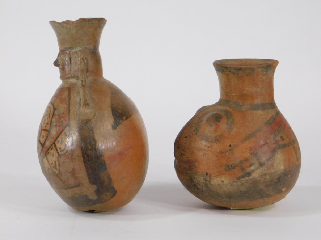 2 Pre Columbian Figural Nazca Pottery Vessels - 3