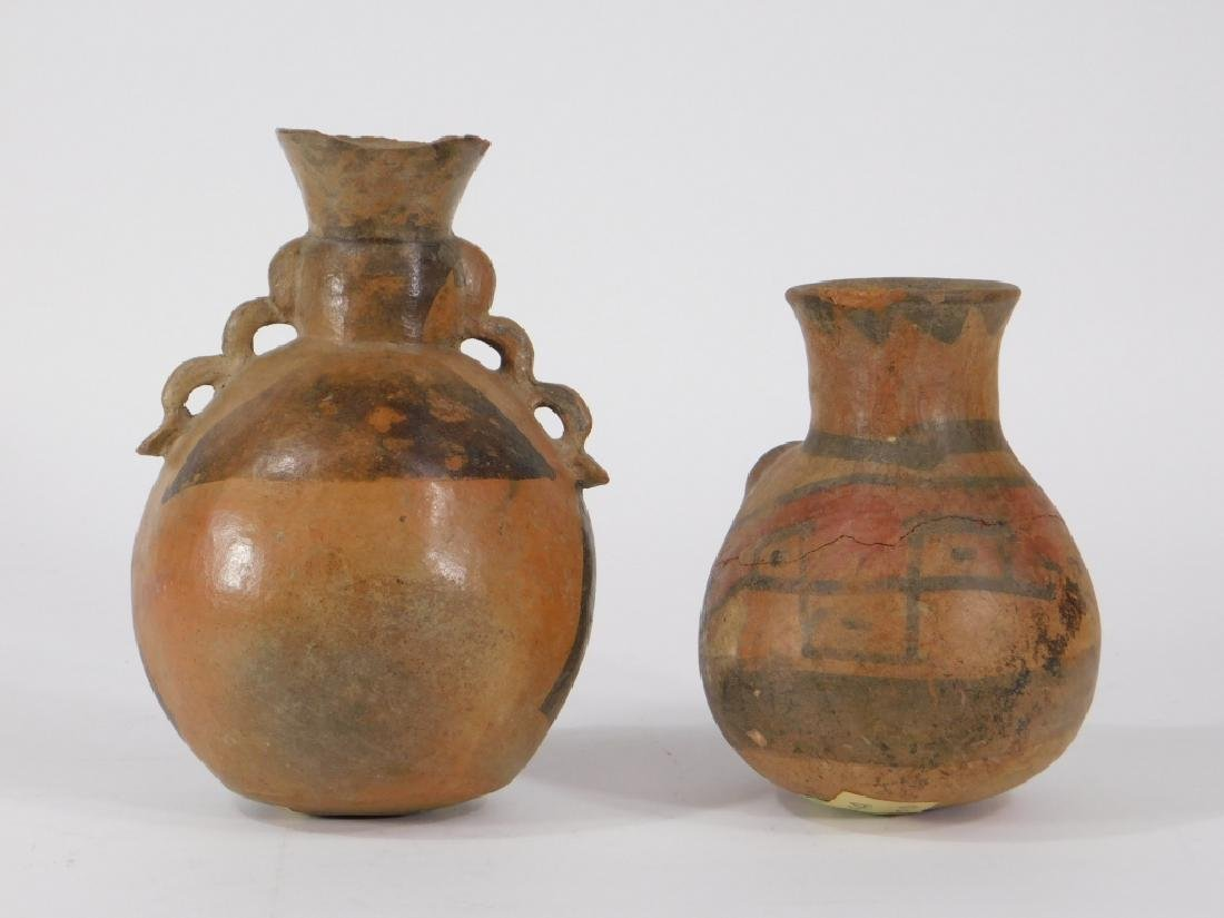 2 Pre Columbian Figural Nazca Pottery Vessels - 4