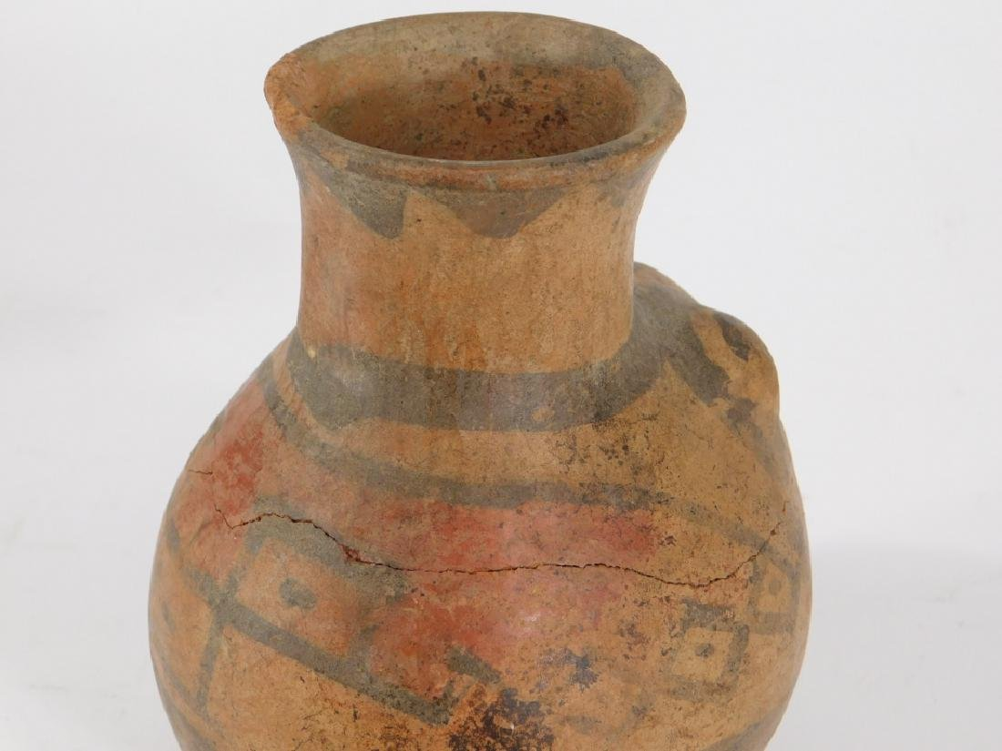 2 Pre Columbian Figural Nazca Pottery Vessels - 5