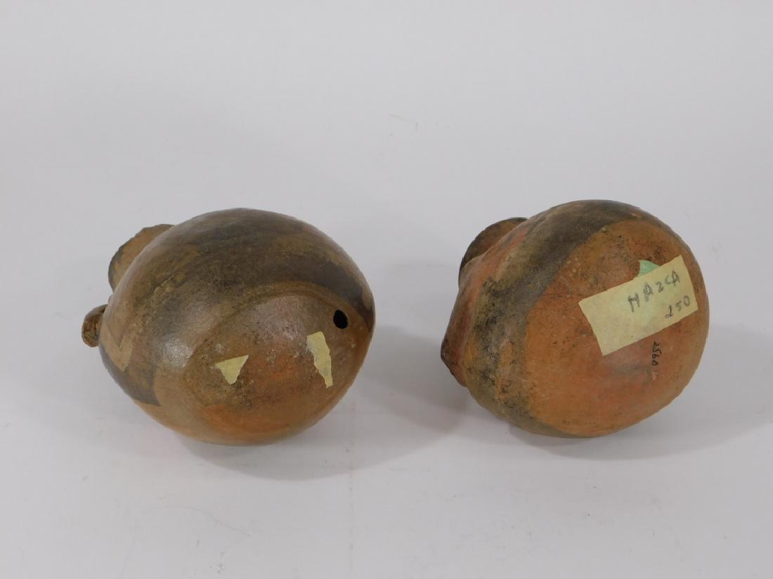 2 Pre Columbian Figural Nazca Pottery Vessels - 6