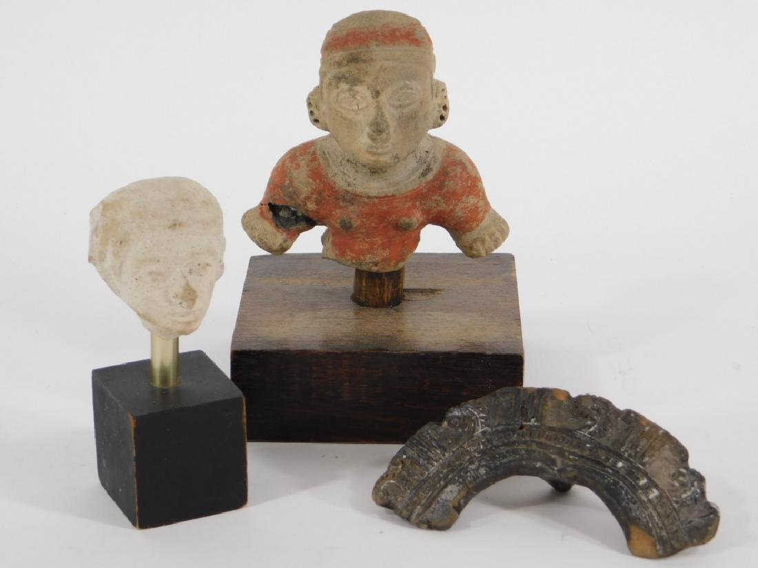 3 Pre Columbian Fragmentary Pottery Figures