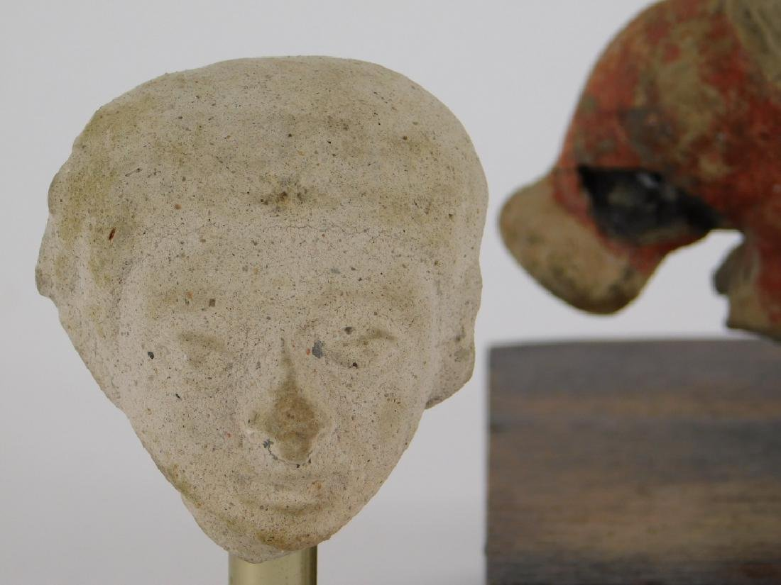 3 Pre Columbian Fragmentary Pottery Figures - 3