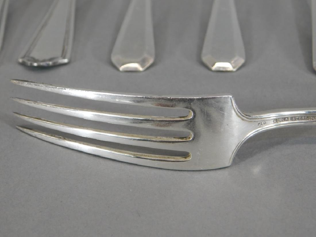 Mixed Lot Sterling Silver Flatware Forks Spoons - 8