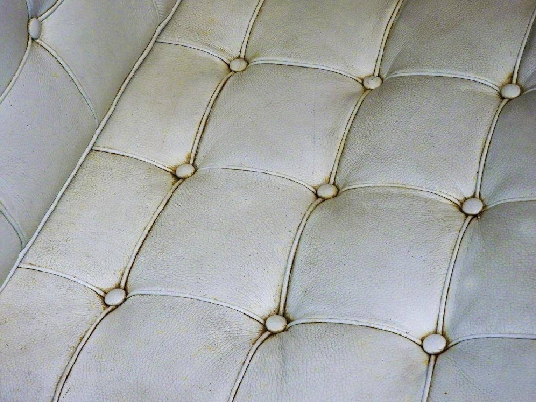 Mies van der Rohe White Barcelona Chairs & Stool - 5