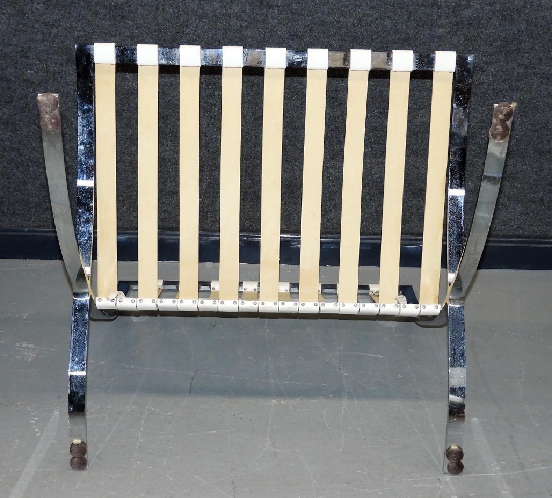 Mies van der Rohe White Barcelona Chairs & Stool - 9