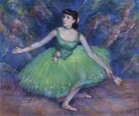 Louis Kronberg Impressionist Ballerina Painting