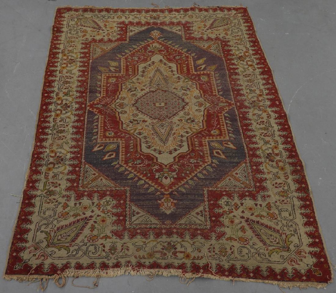 C.1900 Turkish Oushak Middle Eastern Carpet Rug