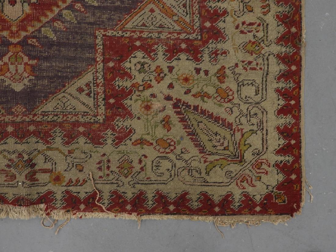 C.1900 Turkish Oushak Middle Eastern Carpet Rug - 3