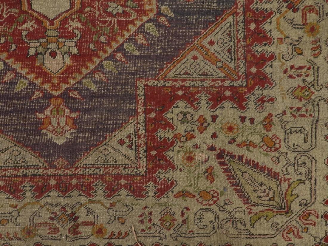C.1900 Turkish Oushak Middle Eastern Carpet Rug - 4