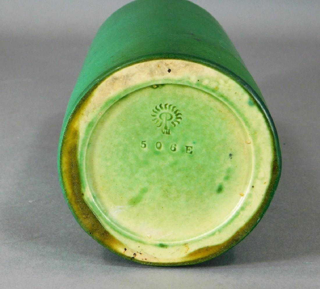C.1908 Rookwood Matte Green Mission Pottery Vase - 4
