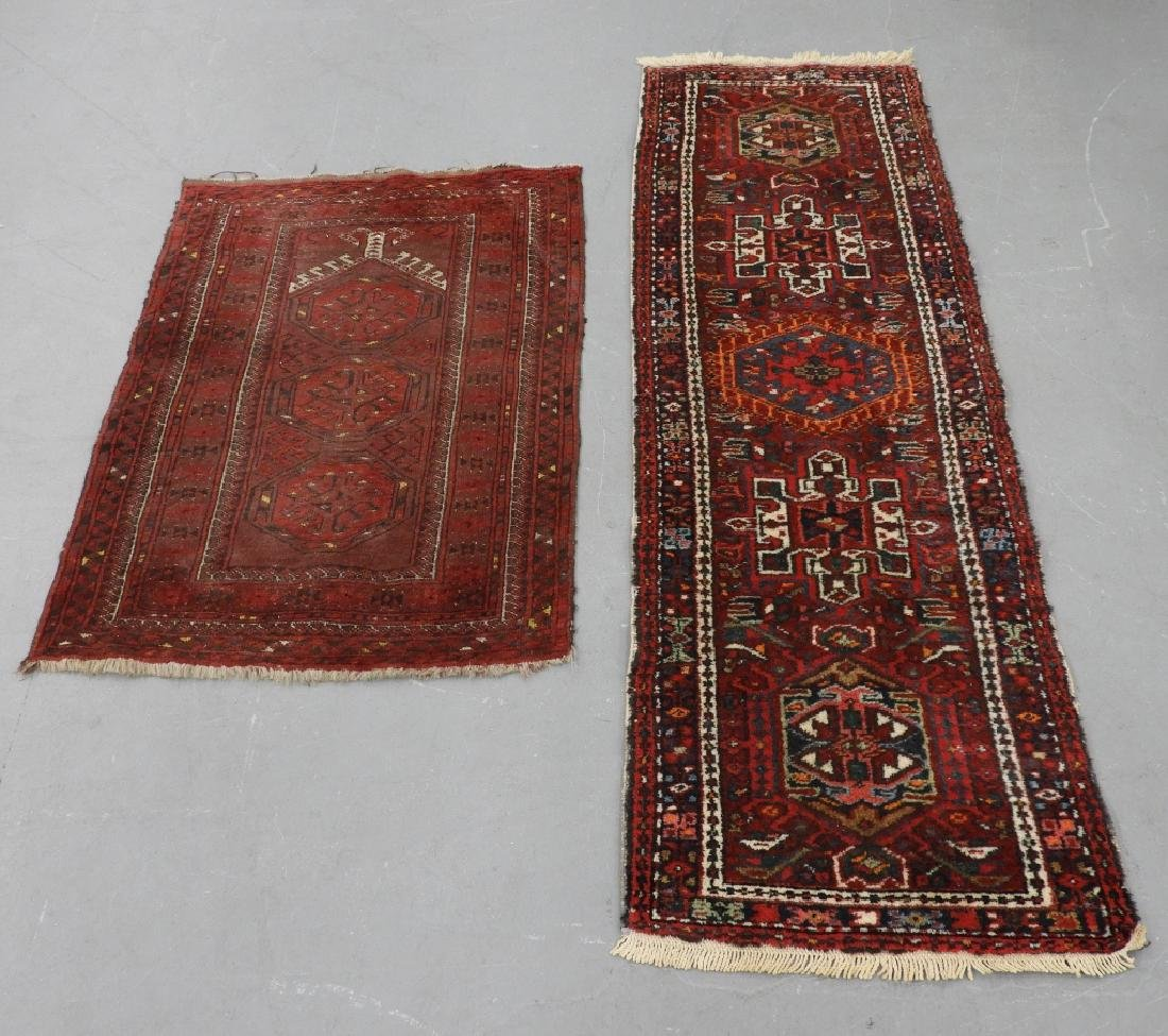 2 Persian Middle Eastern Prayer Rug & Runner