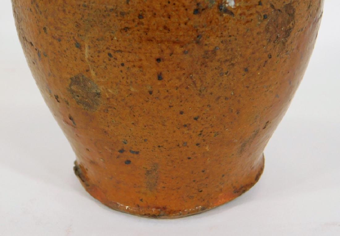 18C Continental Glazed Redware Vasiform Jug Candle - 6