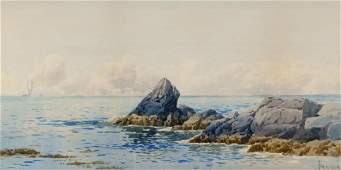 Alfred T. Bricher Coastal Seascape WC Painting