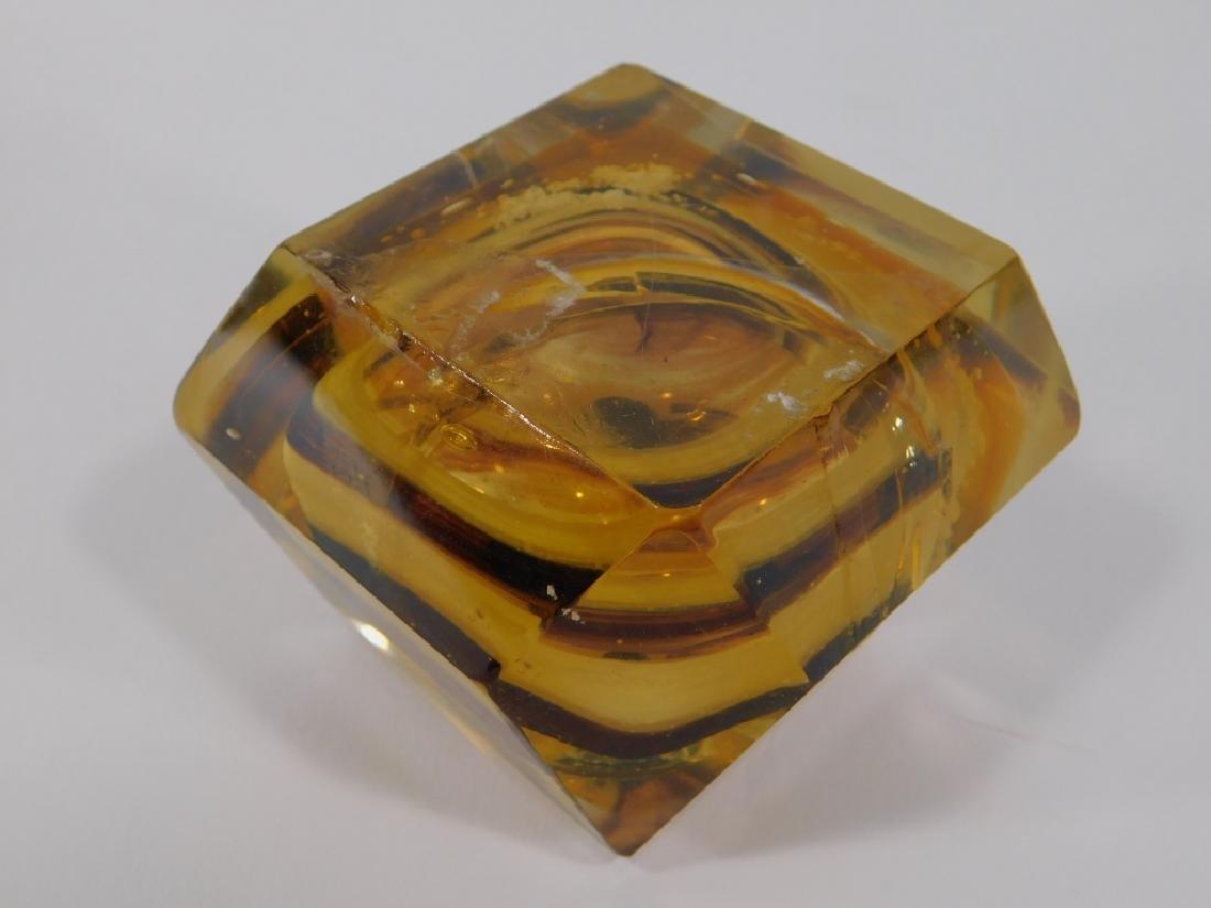 3 Chinese Peking Glass & Art Glass Snuff Bottles - 5