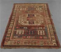 C.1890 Antique Karachou Kazak Oriental Carpet Rug