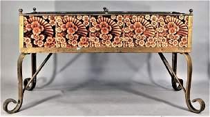 Art Nouveau Bronze Trent Tile Flower Planter