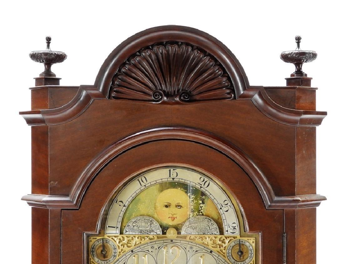 Waltham Co. Mahogany Bombay Case Grandfather Clock - 2