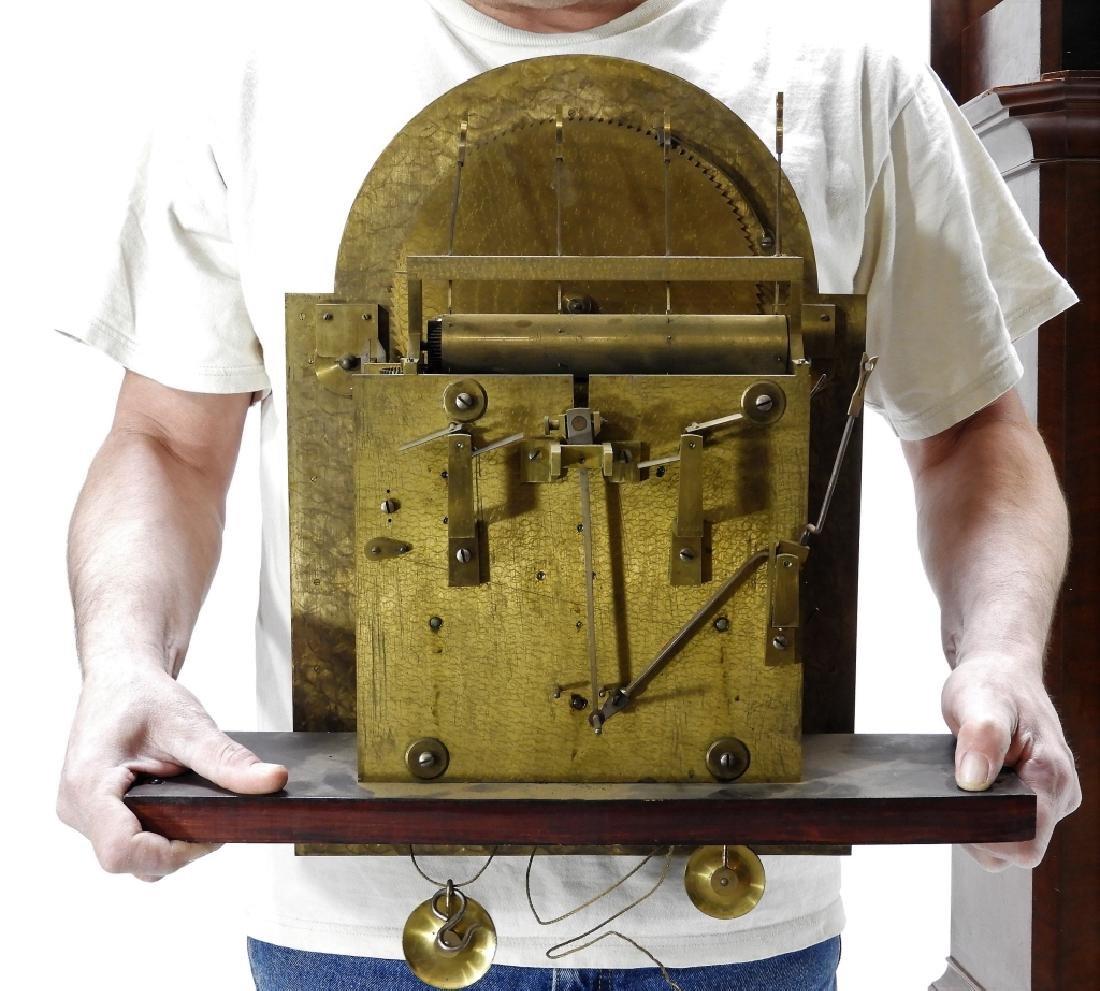 Waltham Co. Mahogany Bombay Case Grandfather Clock - 8