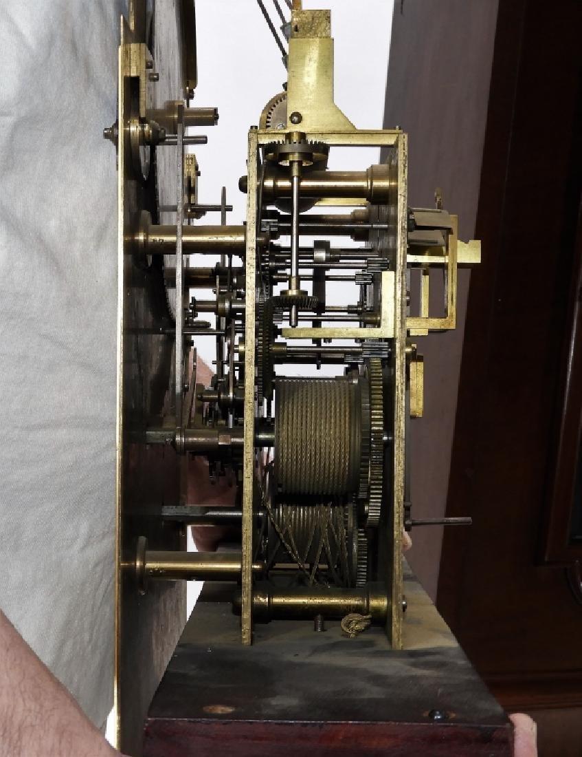 Waltham Co. Mahogany Bombay Case Grandfather Clock - 9