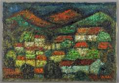 French Modernist Synthetist Landscape Painting