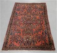 Persian Middle Eastern Sarouk Carpet Rug