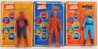 3 1979 Mego Pin Pin Toys WGSH Marvel Figure Group