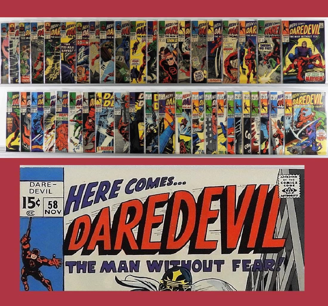 42PC Marvel Comics Daredevil #17-#59 Run
