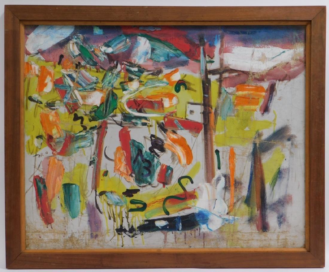 Taro Yamamoto Landscape #4 Abstract O/C Painting