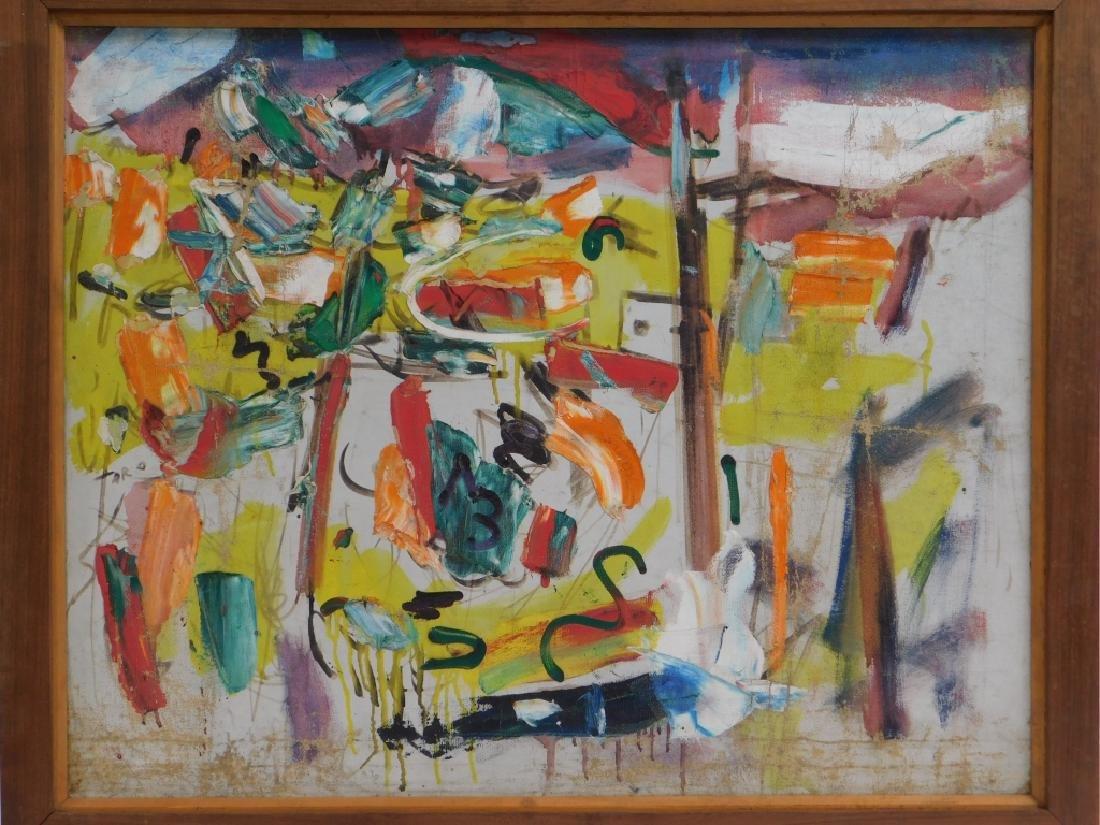 Taro Yamamoto Landscape #4 Abstract O/C Painting - 2