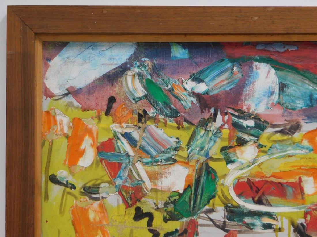Taro Yamamoto Landscape #4 Abstract O/C Painting - 3